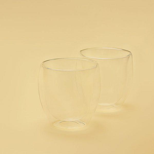 Чашка для кави прозора з подвійними стінками 250 мл